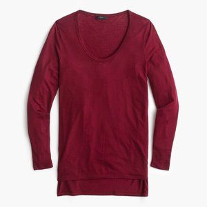 J. Crew Drapey scoopneck long-sleeve T-shirt